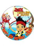 7.5 Personalised Jake and the Neverland Pirates Edible Icing or Wafer Cake Top Topper New